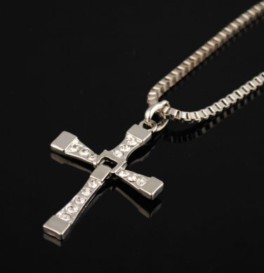 Unisex The FURIOUS, .925 Silver Cross Fashion Necklace