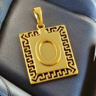 "Handsome Patterned "" O "" Unisex Pendant"