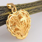 Lovely Heart / Flower Pendant 14K Yellow Gold Filled