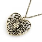 Heart Owl Love Catchers Necklace Collection -Bronze