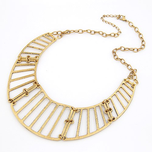 Gold Block Necklace - Bronze