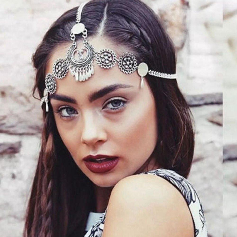 Flower Tassel Headpiece Chain Head Bands Vogue Jewelry