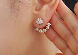 Crystal Burst Earrings- Unique & Dazzling- 9k Gold Filled