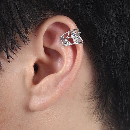 Ear Wrap .925 Sterling Silver - Rose Design