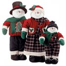 Fabric Snowman Family Set