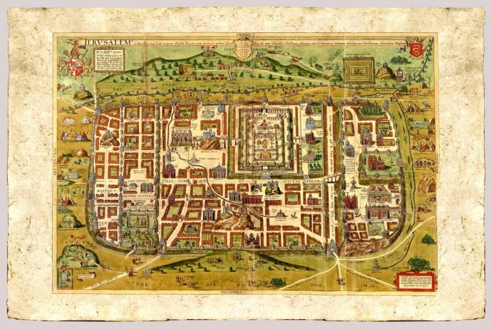 Map of Jerusalem by Christian van Adrichom, 1584