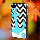 black white chevron anchor for iPhone 4/4S,5,5c,5s & samsung galaxy S3,S4,S5 Case Hard Plastic Cover