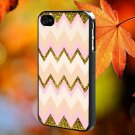 Gold pink chevron for iPhone 4/4S,5,5c,5s & samsung galaxy S3,S4,S5 Case Hard Plastic Cover