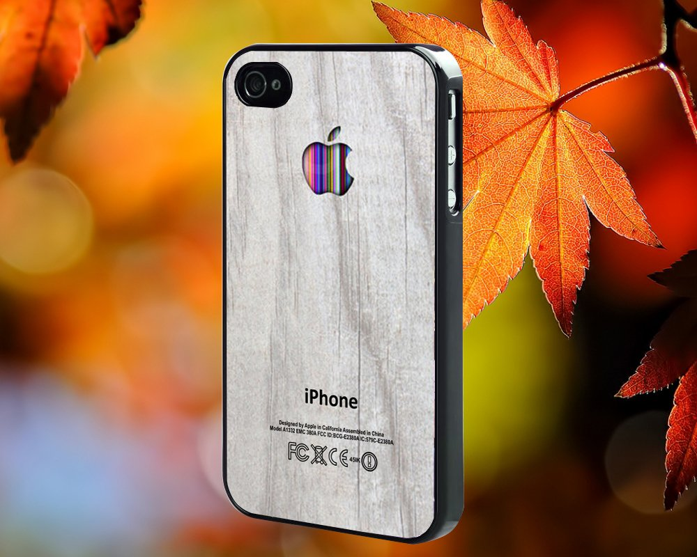 Colorful White Wood for iPhone 4/4S,5,5c,5s & samsung galaxy S3,S4,S5 Case Hard Plastic Cover