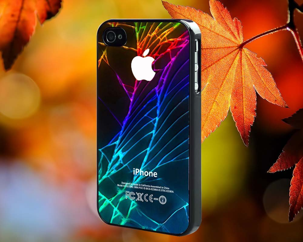 Cracked Out Broken Glass for iPhone 4/4S,5,5c,5s & samsung galaxy S3,S4,S5 Case Hard Plastic Cover