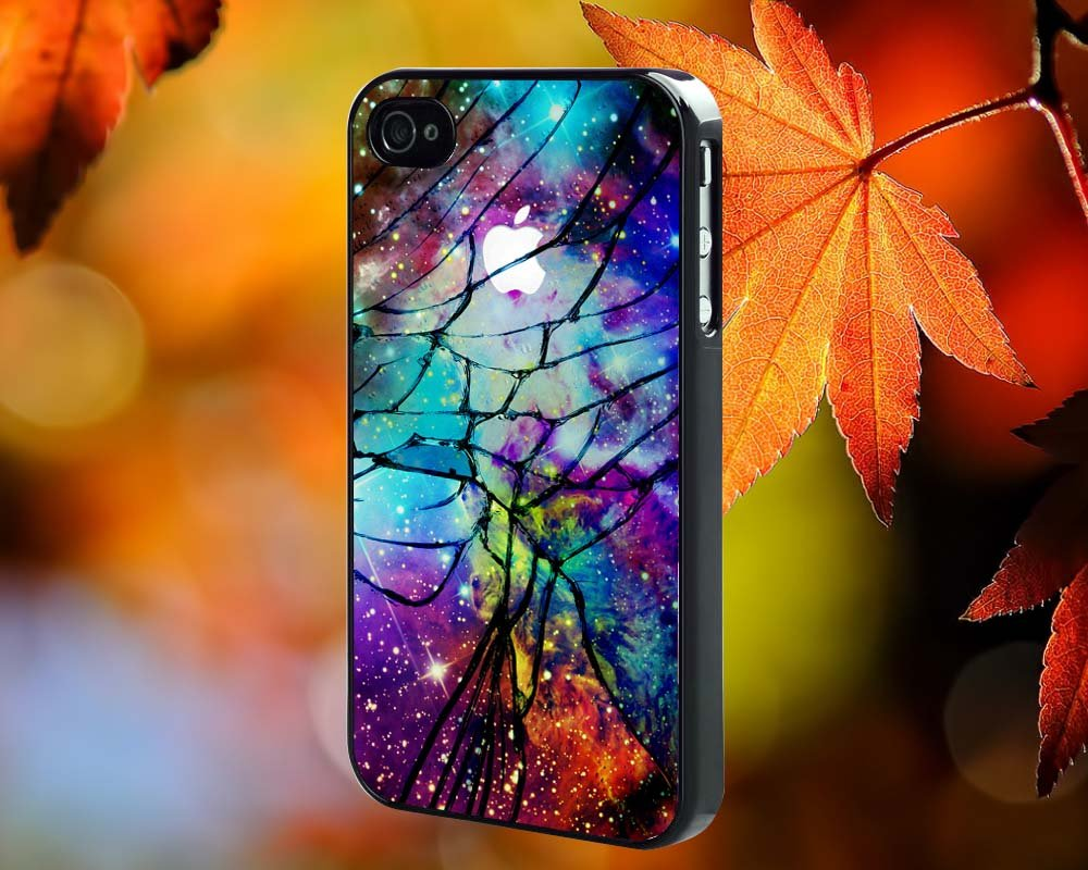 Cracked Out fox for iPhone 4/4S,5,5c,5s & samsung galaxy S3,S4,S5 Case Hard Plastic Cover