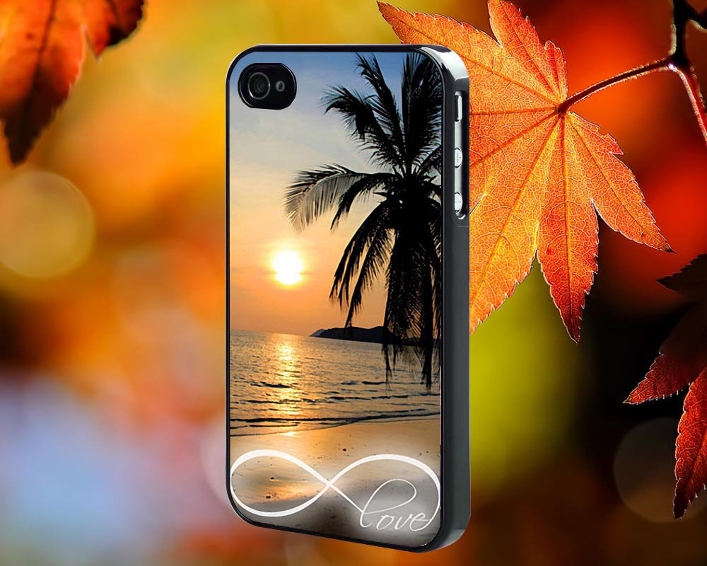 Infinity Sunset Beach  for iPhone 4/4S,5,5c,5s & samsung galaxy S3,S4,S5 Case Hard Plastic Cover
