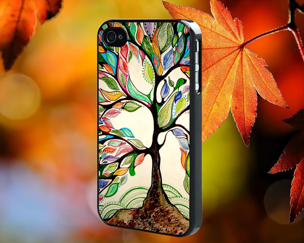 Love Trees  for iPhone 4/4S,5,5c,5s & samsung galaxy S3,S4,S5 Case Hard Plastic Cover