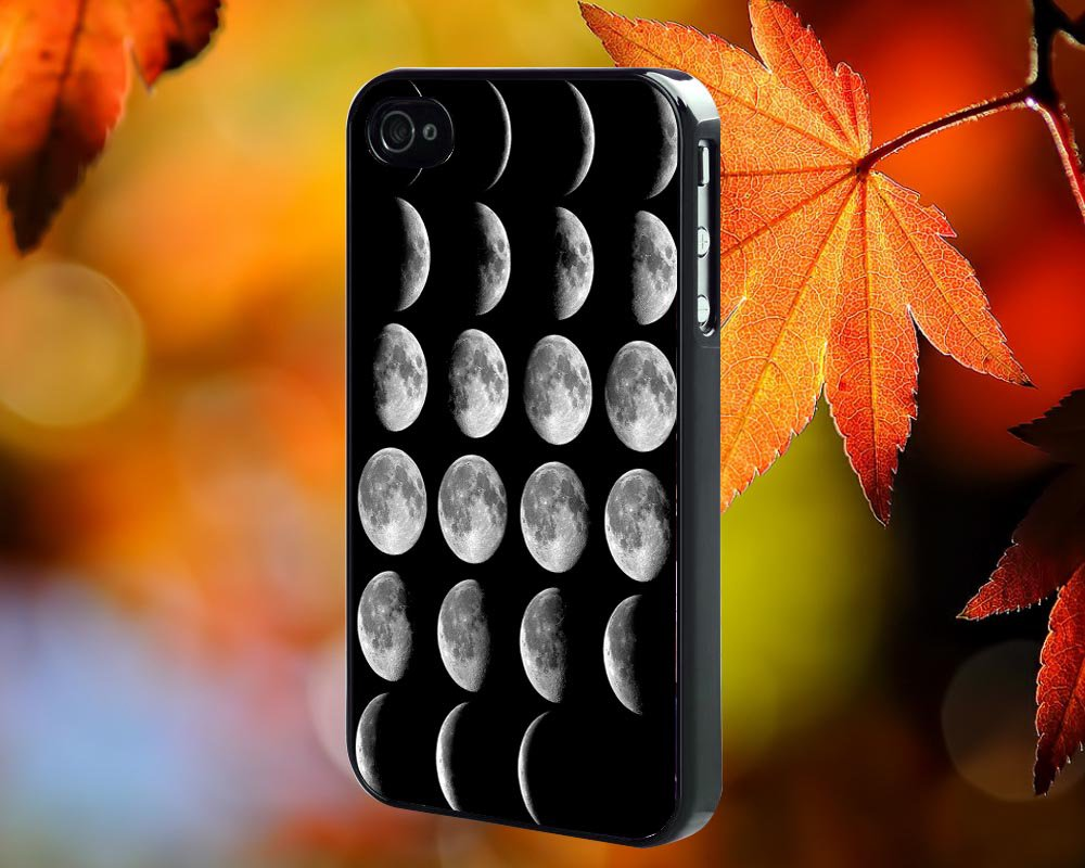 Moon Phases  for iPhone 4/4S,5,5c,5s & samsung galaxy S3,S4,S5 Case Hard Plastic Cover