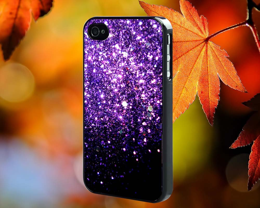 Purple Sparkly for iPhone 4/4S,5,5c,5s & samsung galaxy S3,S4,S5 Case Hard Plastic Cover