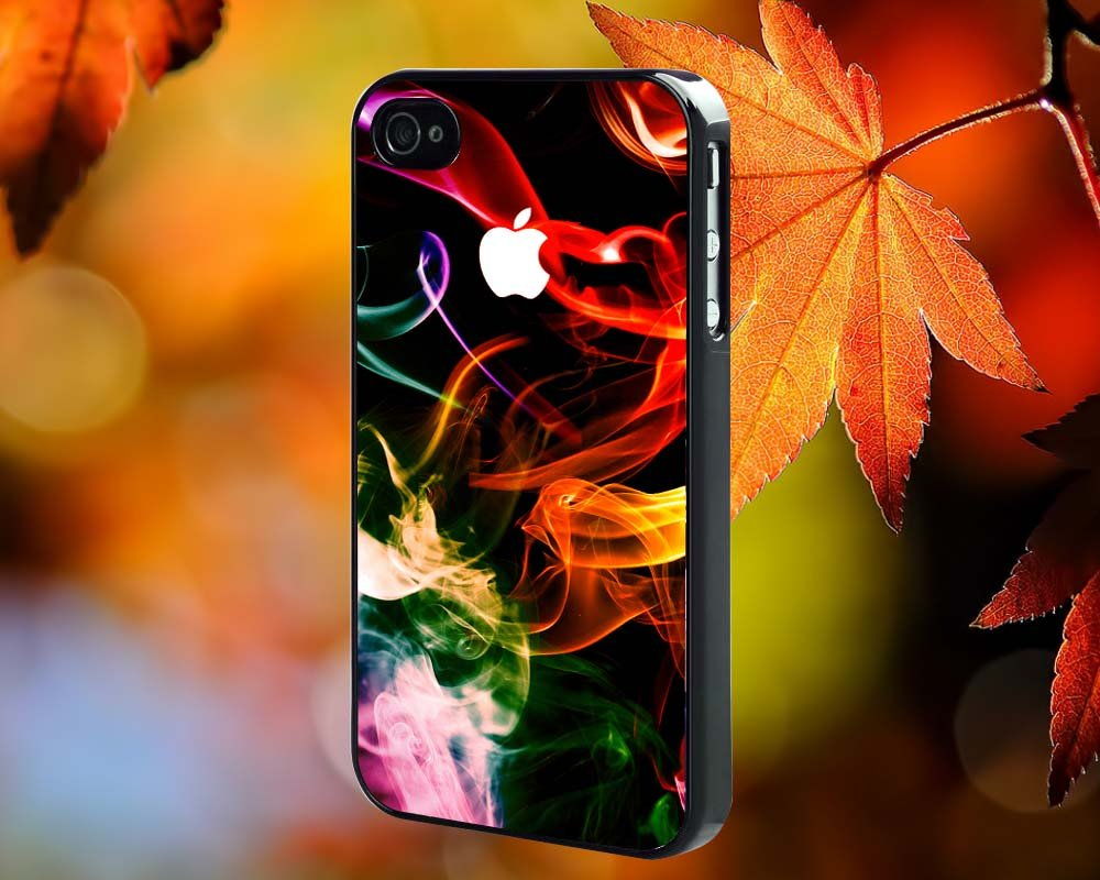 RAINBOW ABSTRACT SMOKE for iPhone 4/4S,5,5c,5s & samsung galaxy S3,S4,S5 Case Hard Plastic Cover