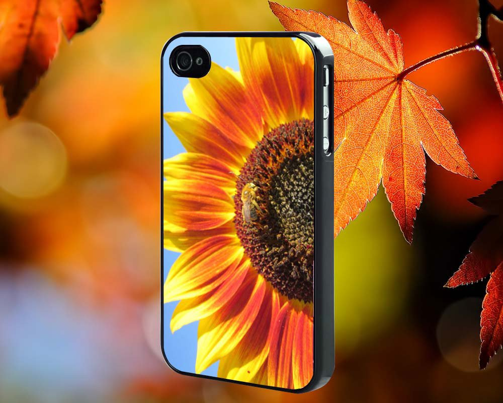 Sun Flower for iPhone 4/4S,5,5c,5s & samsung galaxy S3,S4,S5 Case Hard Plastic Cover