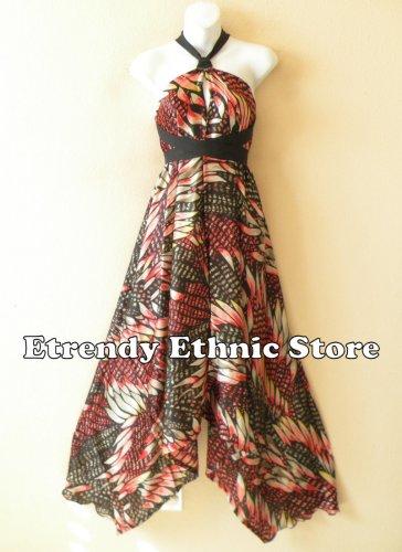 1D93 - Versatile Silk Multi Wear Scarf Long Maxi Dress Skirt