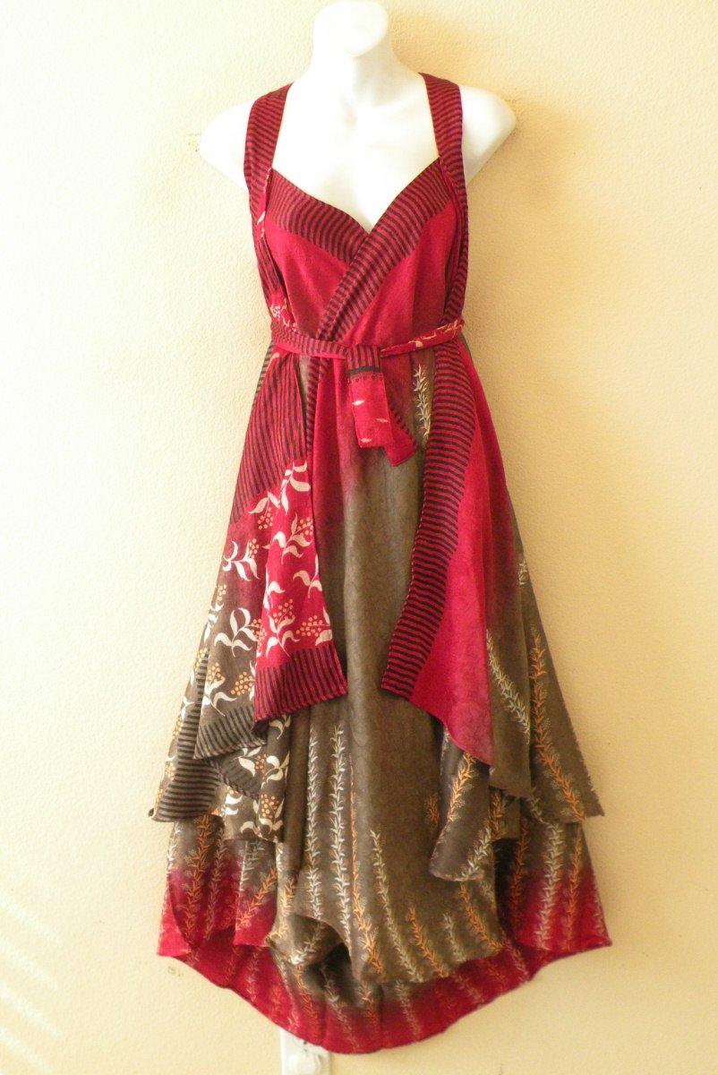 "L812 Vintage Silk Magic 34"" Wrap Maxi Skirt Tube Dress + DVD"
