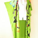 CD222 Plus Size Maxi Cardigan Kaftan Duster Jacket Wrap Dress - 2X, 3X, 4X & 5X