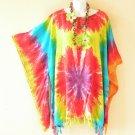 NWT Kimono Plus Size Tie Dye Caftan Kaftan Tunic Blouse Top - XL, 1X, 2X & 3X