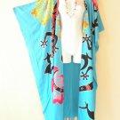 CD210 Plus Size Maxi Cardigan Kaftan Duster Jacket Wrap Dress -2X, 3X, 4X & 5X