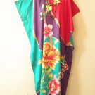 Floral Plus Size Batwing Caftan Kaftan Tunic Hippy Maxi Dress - L, XL, 1X & 2X