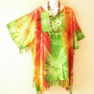 KB410 Tie Dye Batik Kimono Plus Size Caftan Kaftan Tunic Blouse Top - up to 5X