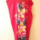 Pink Floral Plus Size Caftan Kaftan Tunic Hippy Maxi Dress - XL, 1X, 2X & 3X
