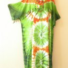 KD15 Tie Dye Kimono Plus Size Caftan Kaftan Tunic Hippy Dress - 2X, 3X, 4X & 5X