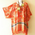 KB415 Floral Kimono Plus Size Batik Caftan Kaftan Tunic Blouse Top - up to 5X