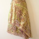 Hippie Gypsy Bohemian Lurex Shimmering Wrap Around Skirt - XS, S & M