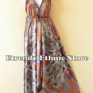 2D100 - Purple Versatile Silk Multi Wear Scarf Long Maxi Dress, Skirt, Maternity