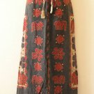 Gothic Hippie Gypsy Patchwork Renaissance Heavily Embroidered Long Skirt - XL