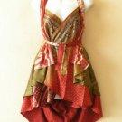 "B6 Reversible Vintage Silk Magic 20"" Mini Wrap Skirt Halter Tube Top + DVD"