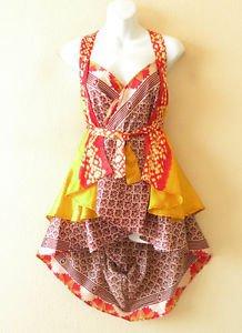 "B15 Reversible Vintage Silk Magic 20"" Mini Wrap Skirt Halter Tube Top + DVD"