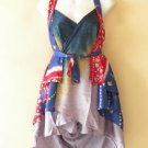 "B114 Reversible Vintage Silk Magic 20"" Mini Wrap Skirt Halter Tube Top + DVD"