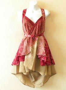 """P58 Reversible Vintage Silk Magic 24"""" Wrap Skirt Halter Tube Dress +Bonus DVD"""