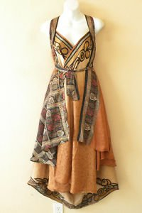 "L910 Vintage Silk Magic 34"" Long Wrap Skirt Halter Tube Maxi Dress + Bonus DVD"