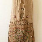 G67 Gothic Hippie Gypsy Bohemian Renaissance Heavily Embroidered Long Skirt - M
