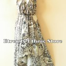 2D102 - White Versatile Silk Multi Wear Scarf Long Maxi Dress, Skirt, Maternity