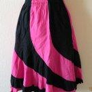Peasant Hippie Gyspy Ethnic Multi Print Nepal Patchwork Skirt - XS, S & M