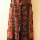 G131 Gothic Gypsy Patchwork Renaissance Heavily Embroidered Long Skirt - L