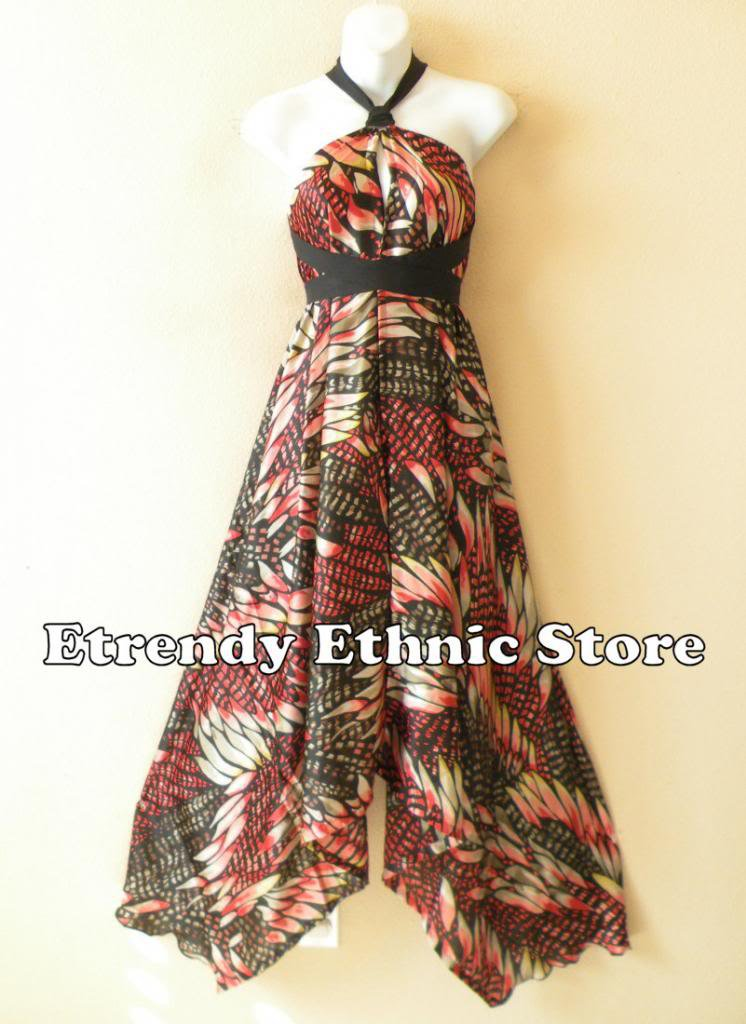 1D93 - Versatile Silk Multi Wear Scarf Long Maxi Dress, Skirt, Maternity