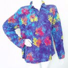 Hippie Gypsy Tunic Bohemian Block Printed Batik Kurta Kurti Blouse Top - M