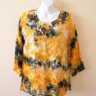 Hippie Gypsy Tunic Embroidered Tie dye Patchwork Kurta Kurti Blouse Top - M & L