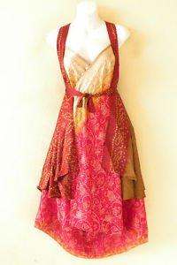 """M437 Reversible Vintage Silk Magic 30"""" Length Wrap Skirt Halter Tube Dress + DVD"""
