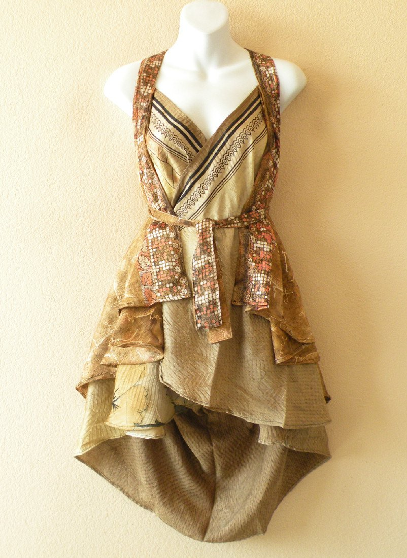 "P157 Reversible Vintage Silk Magic 24"" Wrap Skirt Halter Tube Dress + Bonus DVD"