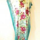 Floral Plus Size Batwing Batik Kaftan Maternity Hippy Dress - M, L, XL & 1X