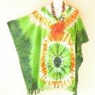 Tie Dye Tunic Plus Size Kaftan Beachwear Batwing Dolman Poncho -2X, 3X, 4X & 5X